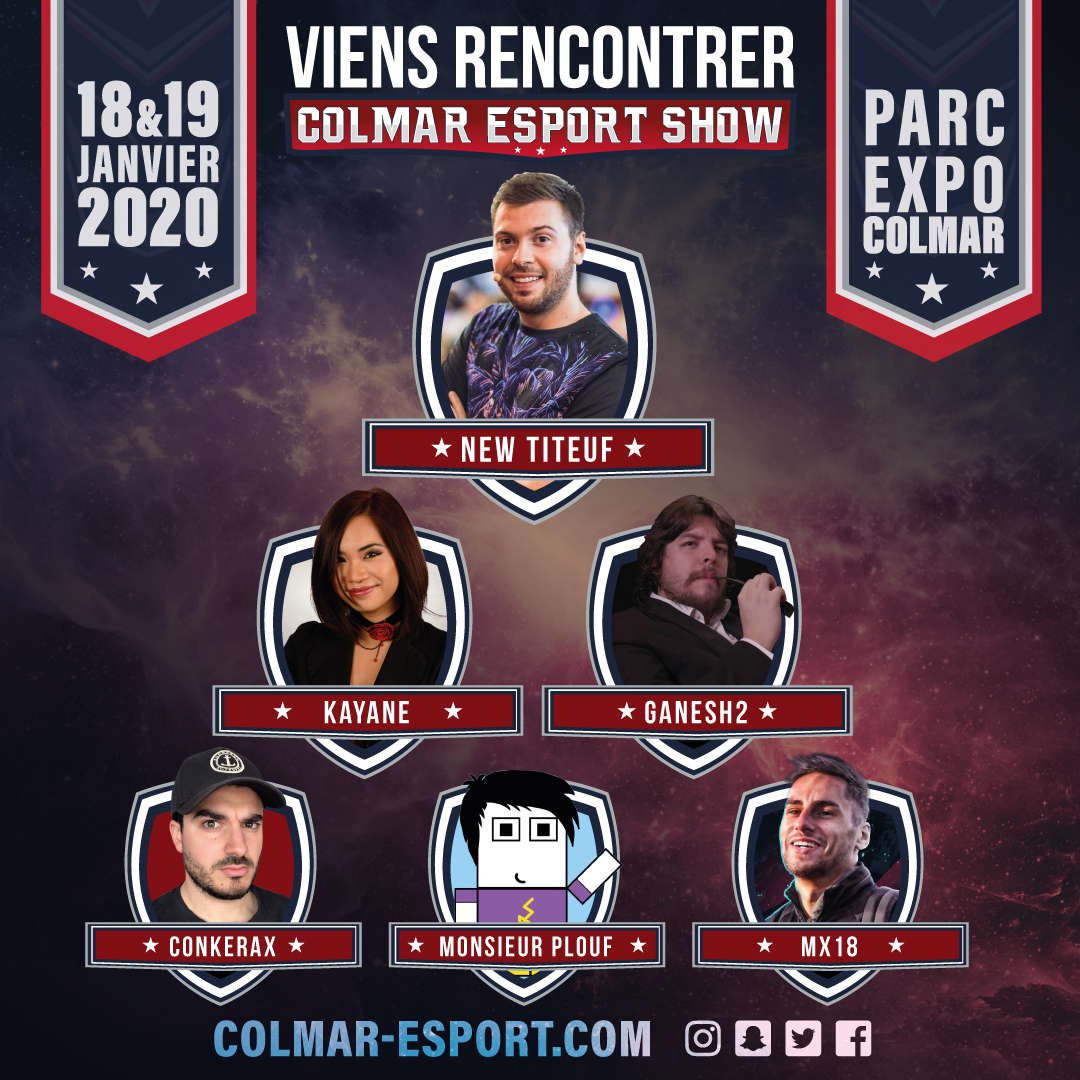 Guests Colmar Esport Show 2020